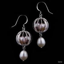 L'amour cachotier - Boucles d'oreilles - Perle de culture