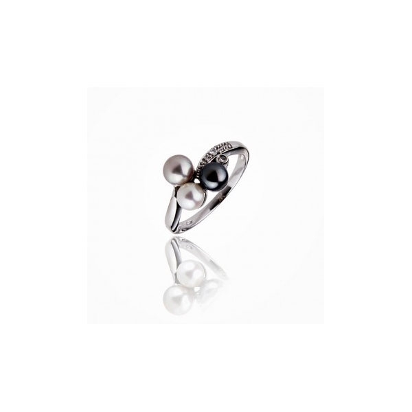 The perfect trio - Ring -  Pearl - 925 Silver