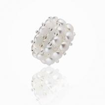 Les perles au doigt - Bague Perle de culture