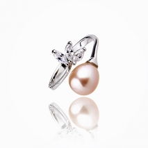 The delicate elegance - 925 Silver - cultured pearl - ring