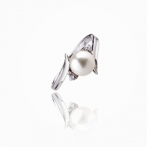 "The ""spicky"" charm - Ring pearl 925 Silver"