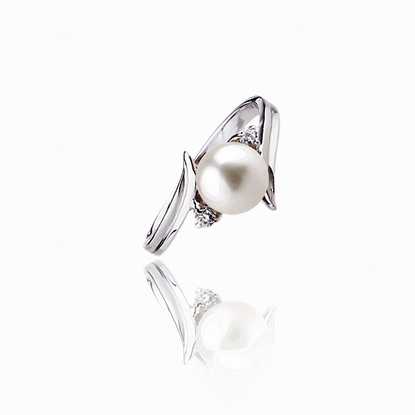 """The """"spicky"""" charm - Ring pearl 925 Silver"""