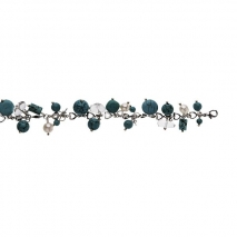 Turquoise et Cristal - Bracelet - Perle de culture