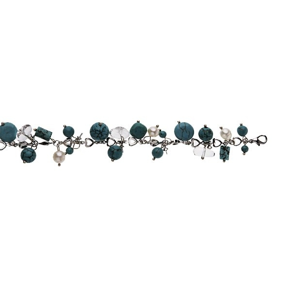 Turquoise and Crystal - Bracelet