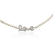 Love - Necklace or Bracelet - Zirconias - Silver 925 - Pealrls