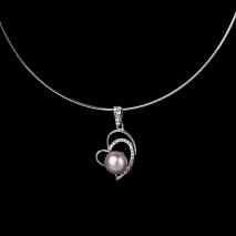Le coeur amoureux - Pendentif - Perle de culture