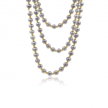 Orient Mirrors- Extra long Necklace 160 cm - Grey pearls of Yangtzi