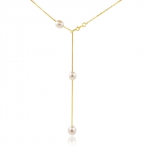 Dress and appearance - Necklace Choker - Gold plated - Cultured pearl