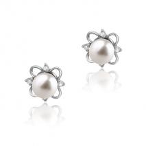 Fleur de Lys - Boucles d'oreilles - Perles de Culture