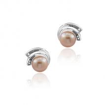Le bouton Glamour - Boucles d'oreilles - Perles de Culture