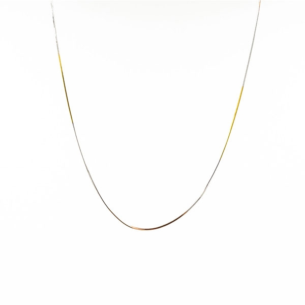Long chain -  Snake mesh type  - Gold plated in white, yellow and pink