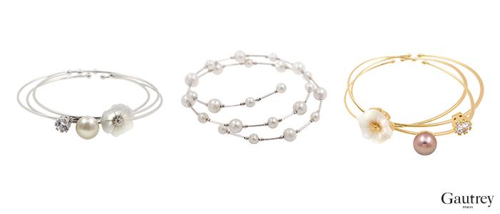 Bracelets Parure bijoux perles Gautrey Paris