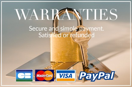 WARRANTIES - Secure and simple payment. Satisfied or refunded