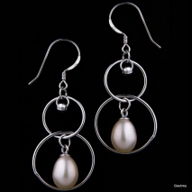 The eight - Earrings - Culture pearl