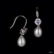 Classe absolue N° 3 - Boucles d'oreilles - Perle de culture