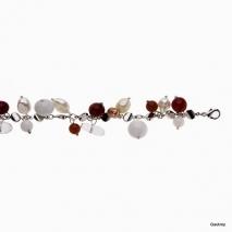 La passion baroque - Bracelet Perle de Culture et céramique