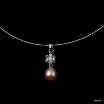 Etoile d'amour N°2 - Pendentif Perle de culture