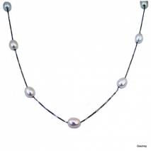 White Pearls classic - Collier Ras le cou Argent 925