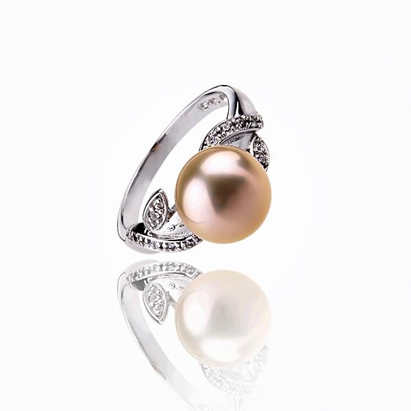 bague perle couleur