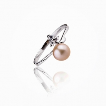 The ligthning chic - Cultured Pearl ring