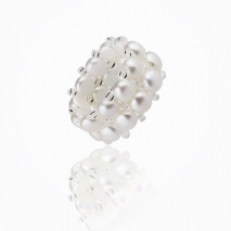 Finger with pearls - Cultured pearls ring