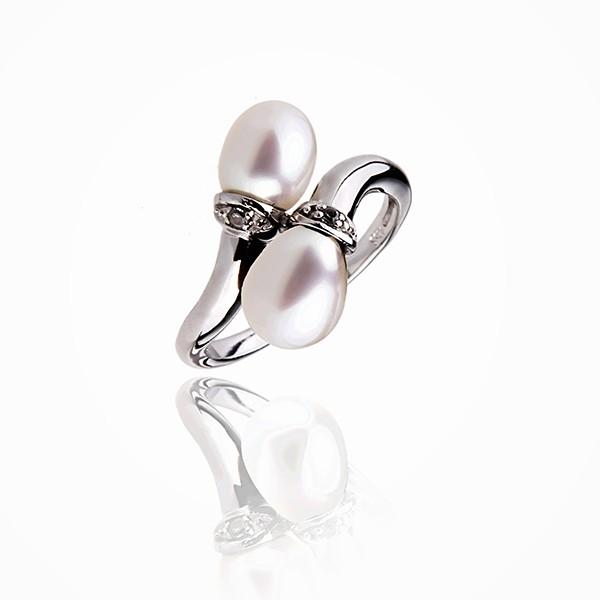 Deux Amours - Bague Perle Argent 925