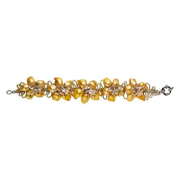 Happy Lime - Bracelet - Fantastic cultured pearls