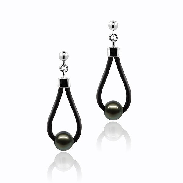 Freedom of soul N° 1 - Earrings - Tahiti pearl