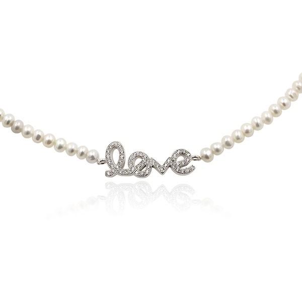 Love - Collier - Perle de culture