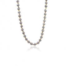 Miroirs d'Orient - Collier 54 cm - Perles grises du Yangzi