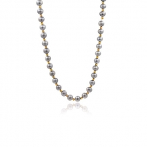 Orient Mirrors - Necklace 54 cm - Grey pearls of the Yangtze