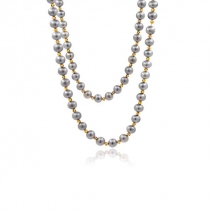Orient Mirrors - Long necklace 110 cm - Yangtzi Grey pearls