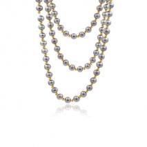 Miroirs d'Orient - Collier 160 cm - Perles grises du Yangzi