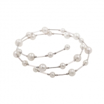 Spirale lovée - Bracelet - Perles de culture