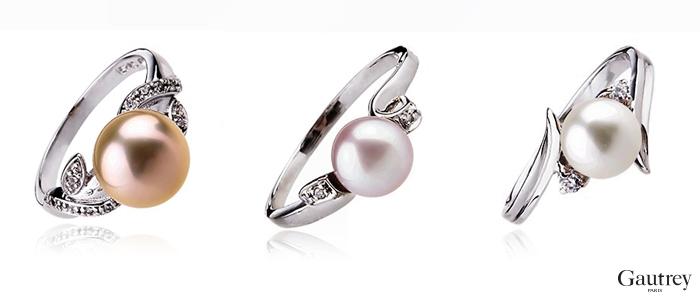 Bagues Parure bijoux perles Gautrey Paris