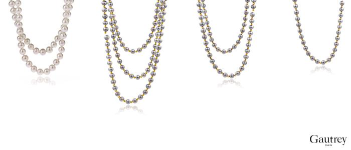 Colliers Parure bijoux perles Gautrey Paris