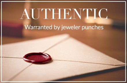 AUTHENTIC - Warranted by jeweler punches